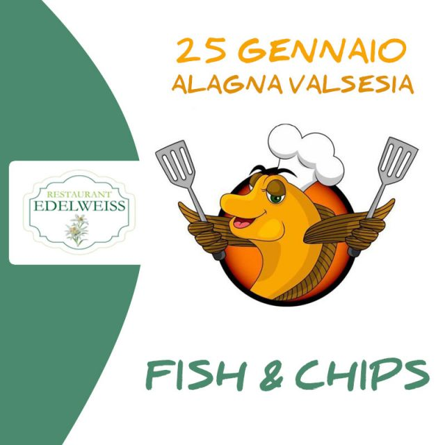 Fish and chip all'edelweiss